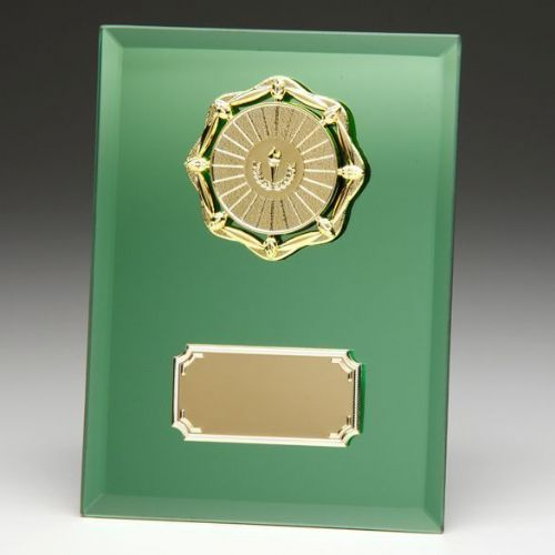 Emerald Mirage Mirror Plaque 180mm